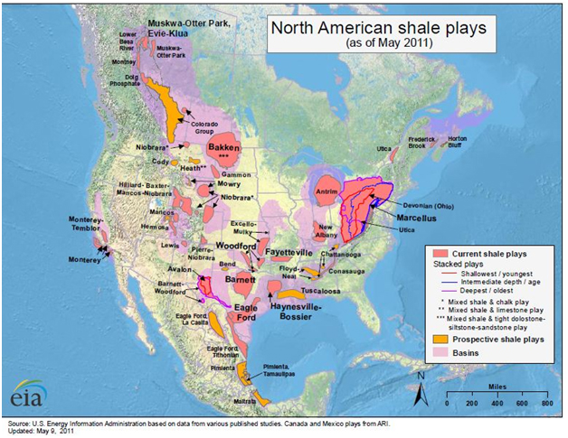 North American Shale locations